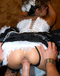 Sienna gets her honey moon fuck on while getting beer poured all over her.